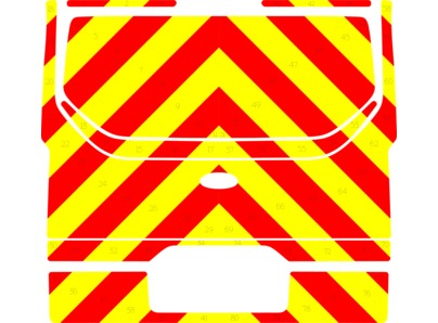 Striping Ford Custom Traffic Officer Chevrons Red/Yellow